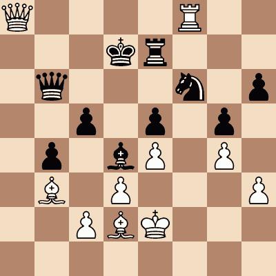 diagram of Joseph Blackburn vs. Adolf Anderssen chess puzzle