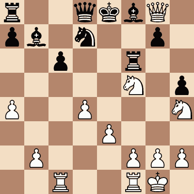 diagram of José Capablanca vs. Gunnar Friedemann chess puzzle