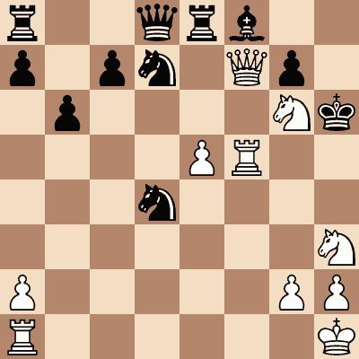 diagram of Wilhelm Steinitz vs. Herbert Trenchard chess puzzle