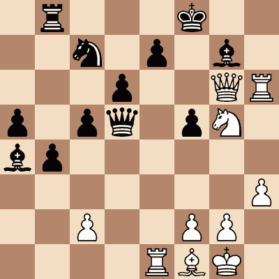 diagram of Mikhail Tal vs. Pal Benko chess puzzle
