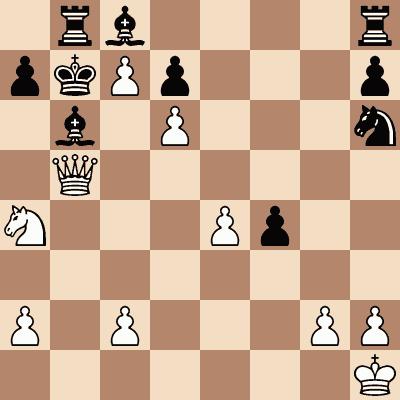 diagram of Luis Paulsen vs. Blachy chess puzzle