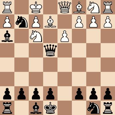 diagram of Ilya Rabinovich vs. Grigory Levenfish chess puzzle