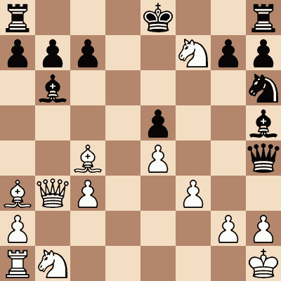 diagram of William Evans vs. Alexander MacDonnell chess puzzle