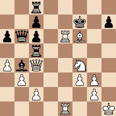 diagram of Géza Maróczy vs. Heinrich Wolf chess puzzle