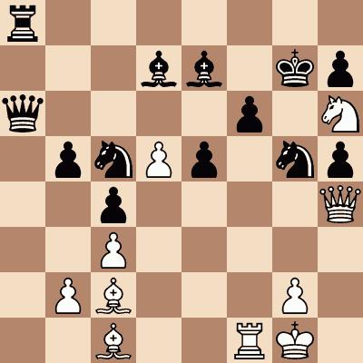 diagram of Magnus Carlsen vs. Hans Harestad chess puzzle