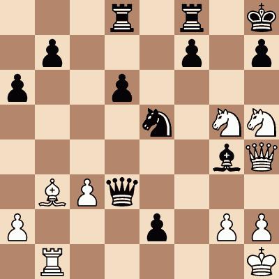 diagram of Kasparov Mates in 3 chess puzzle