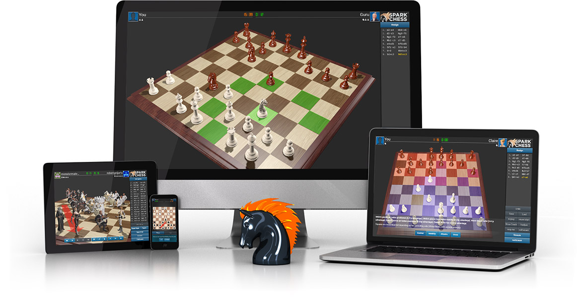 Play chess online against the computer or in multiplayer